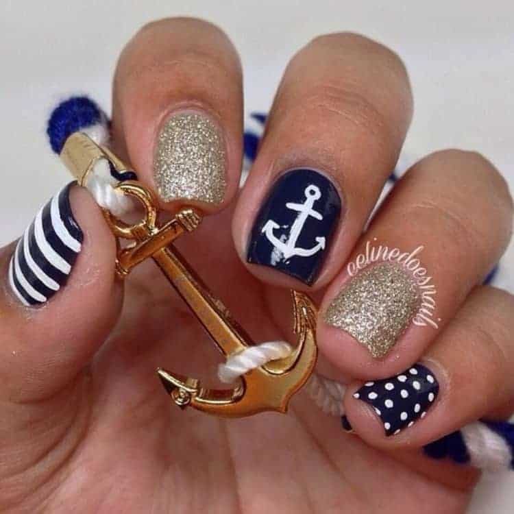 Nautical Nails Designs: 25 Nail Arts for The Seabound