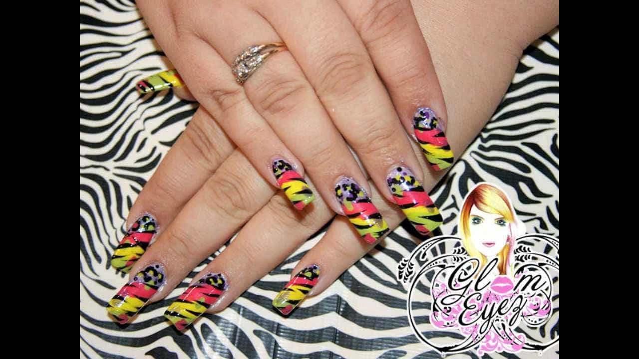 nicki minaj tiger print nail art