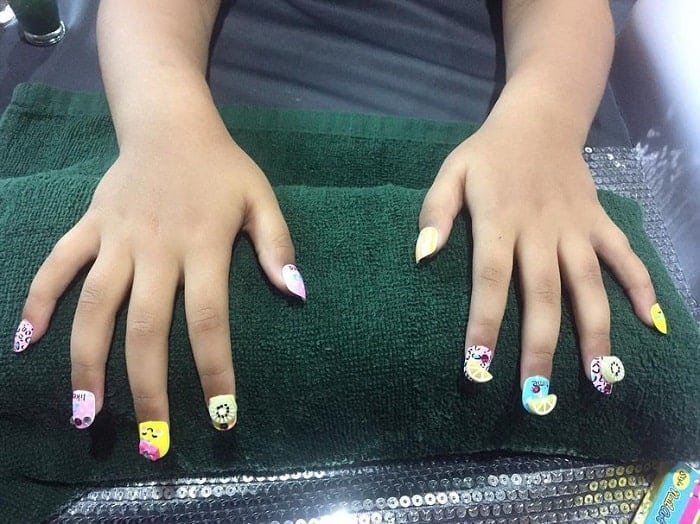 short acrylic nails for kids