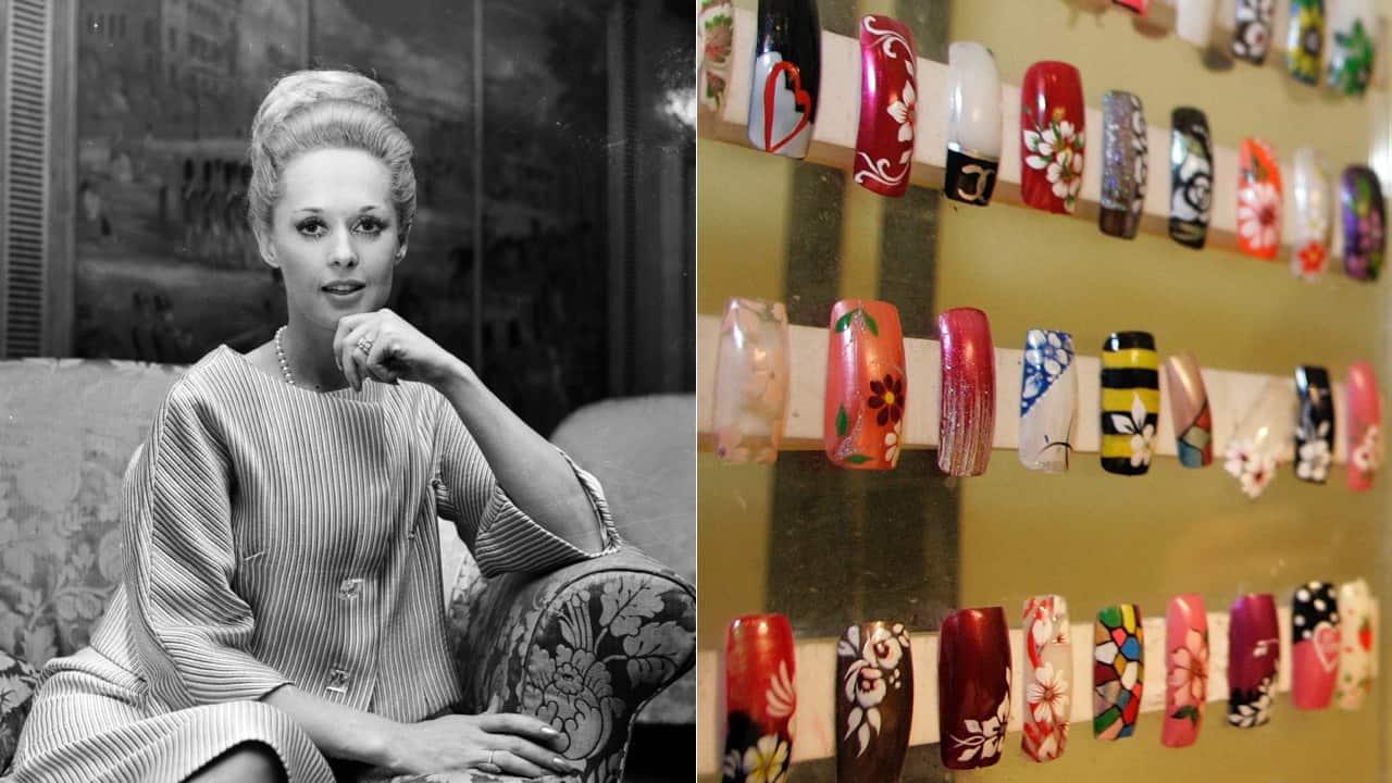 Tippi Hedren's nail ideas