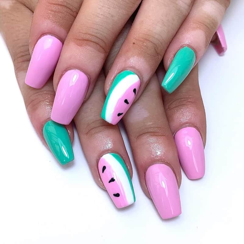 fruit gel nail design