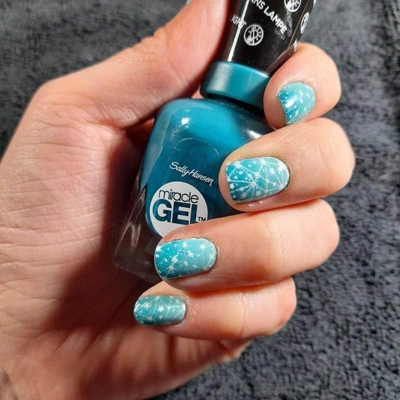 galaxy pastel nails design