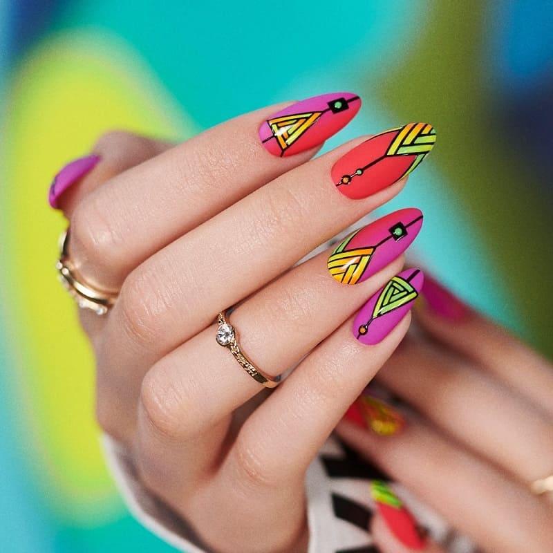 geometric nail art stickers