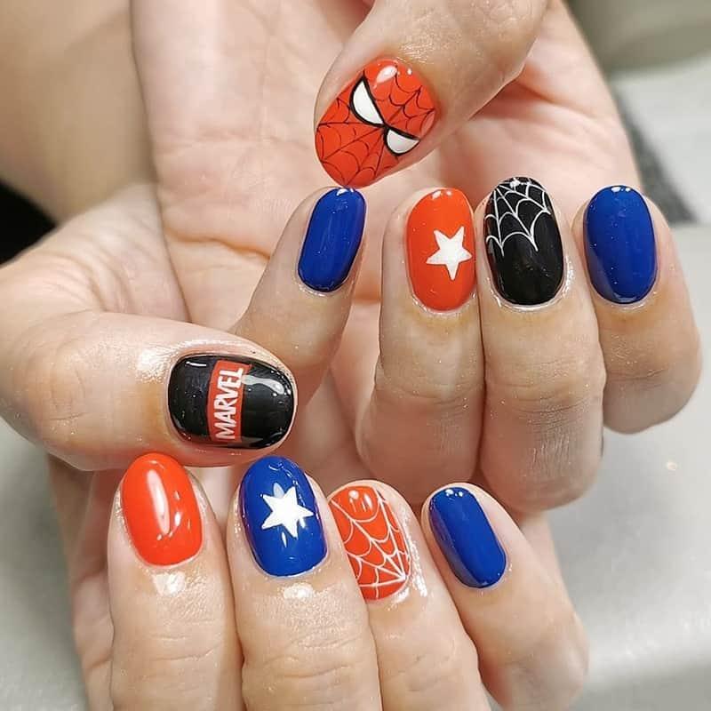marvel comics nail art