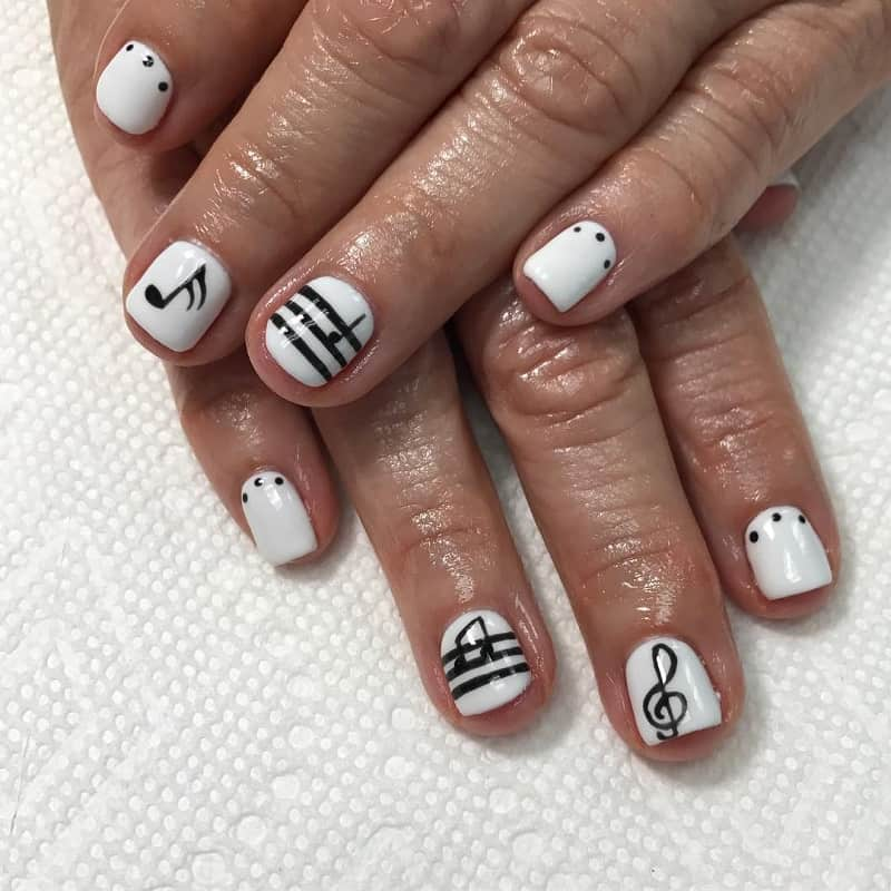 music note nail stickers
