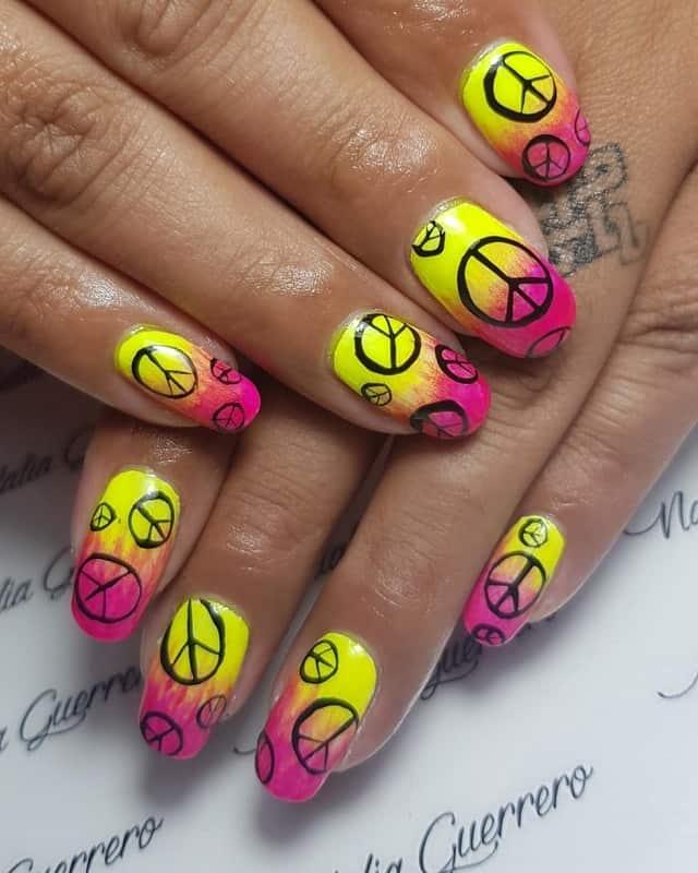 hippie nail arts