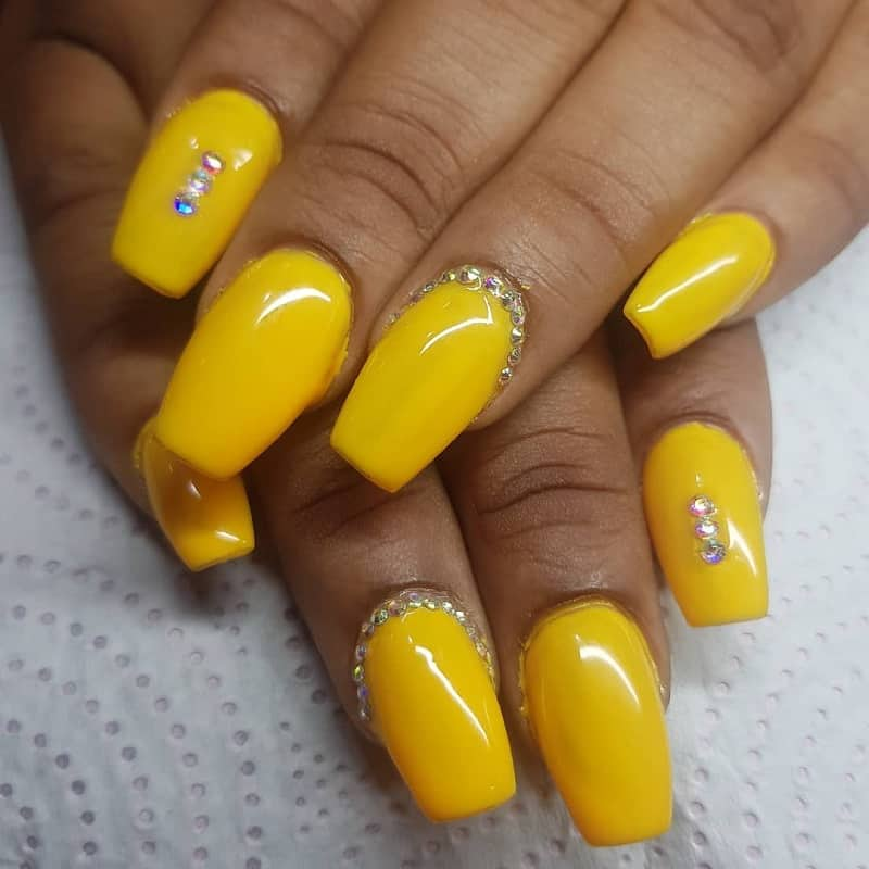 summer nail designs with rhinestones