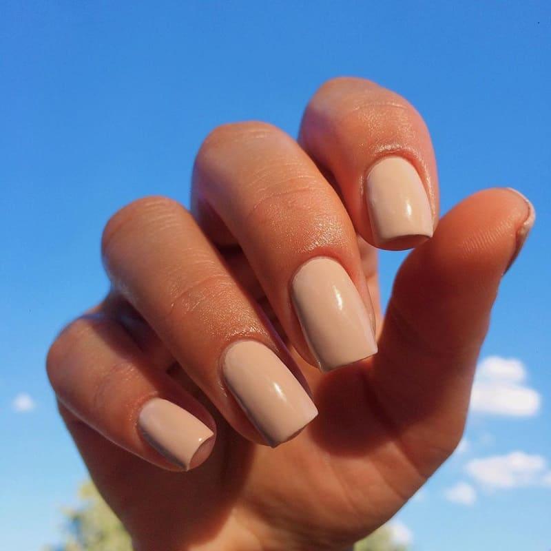 beige gel nails