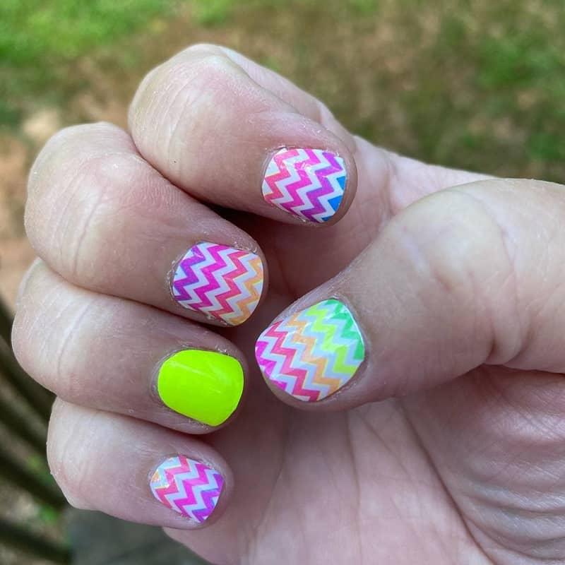 chevron nail stickers