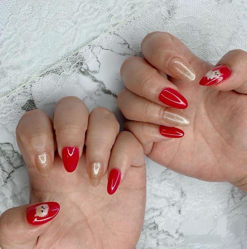 chinese new year dog nail designs