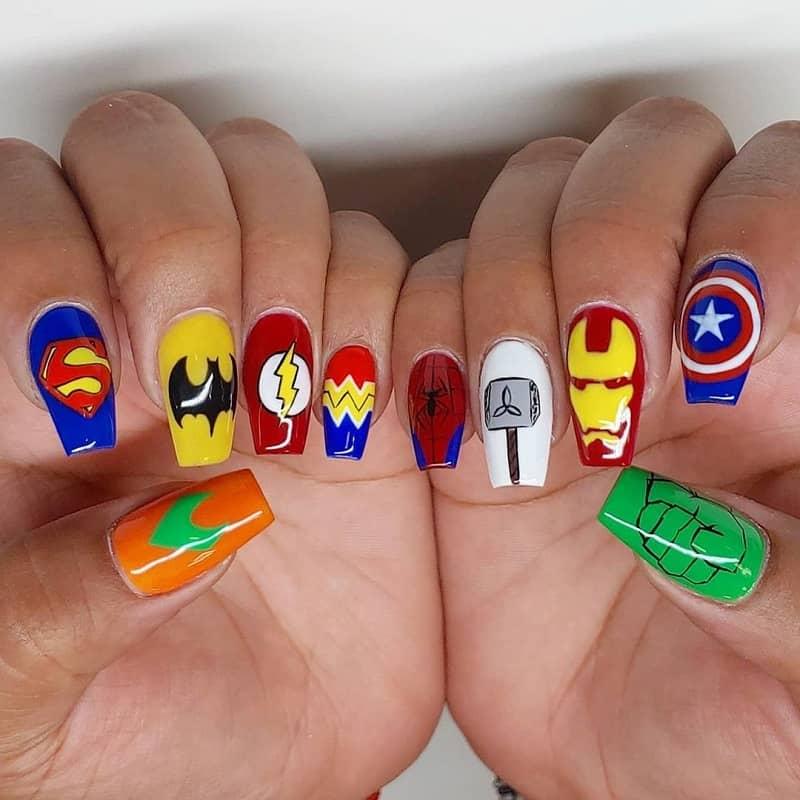marvel nail art stickers