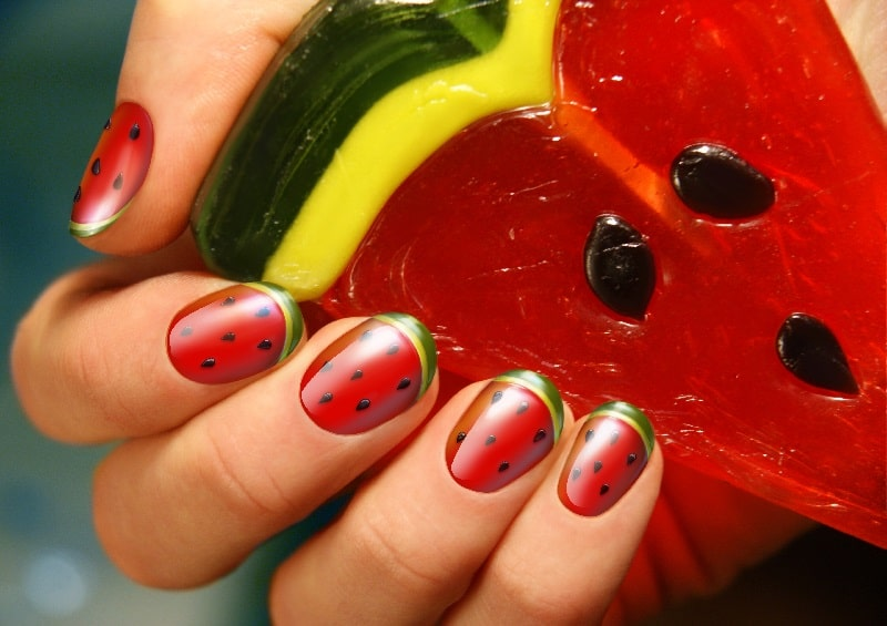 summer acrylic nails designs