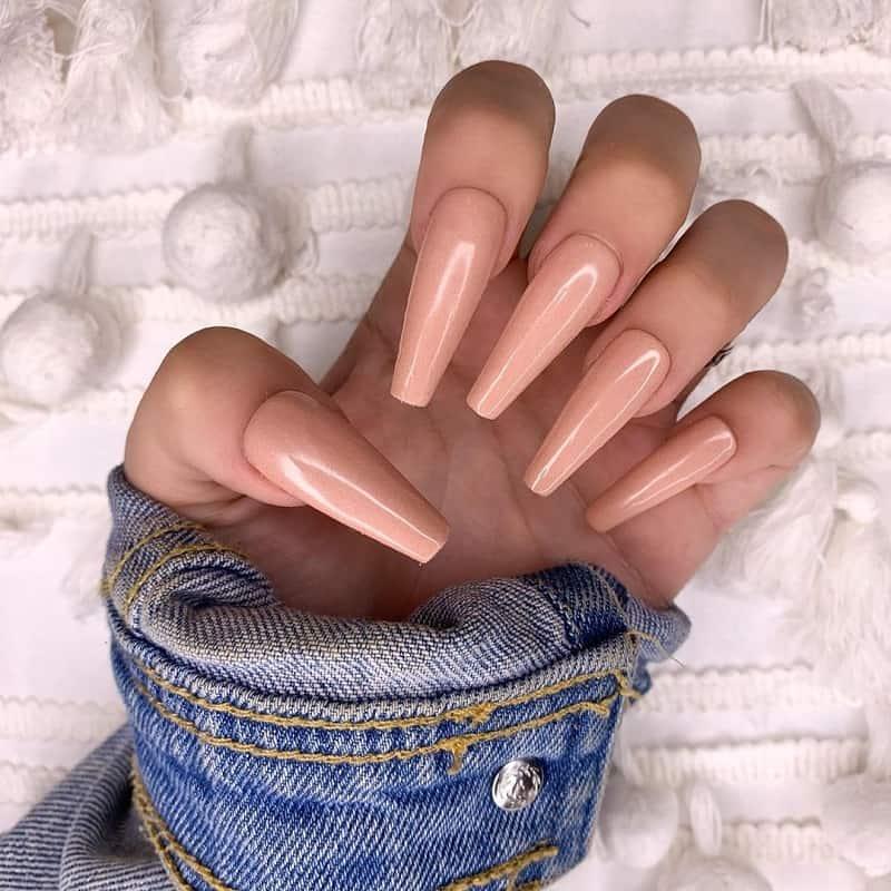 tan coffin nails