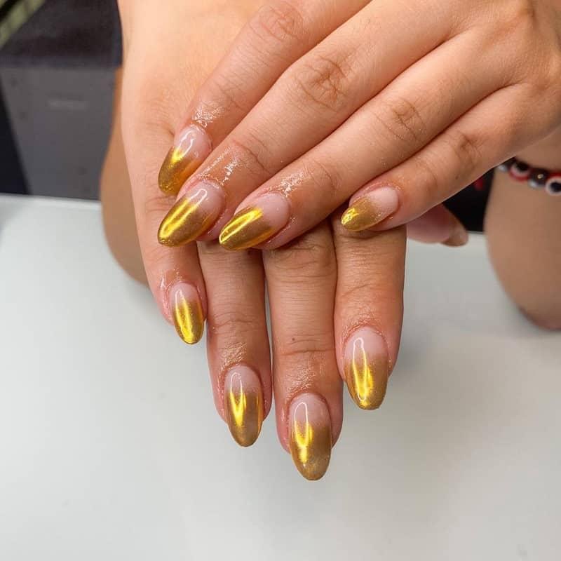 two tone chrome nails