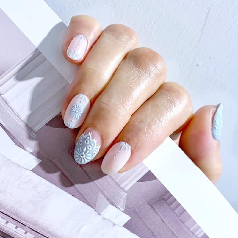 3d lace nail