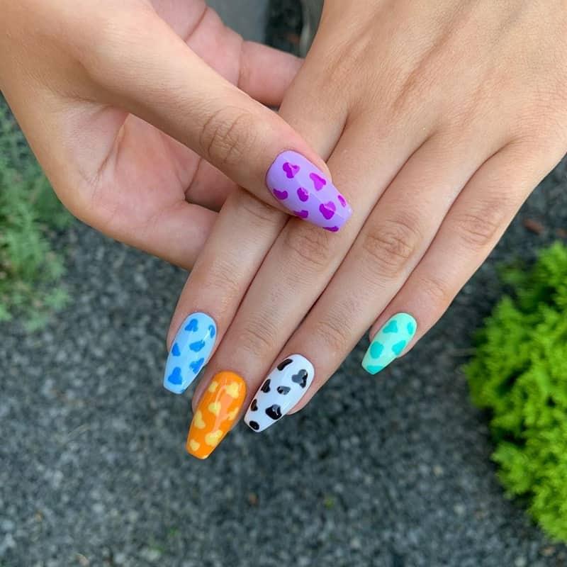 fake nails summer designs