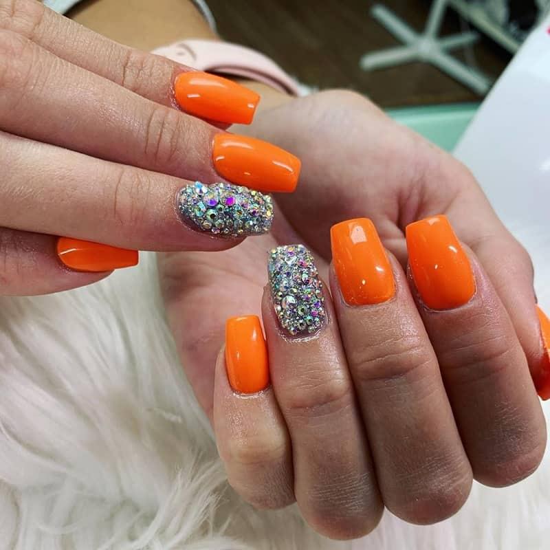 fall bling nails