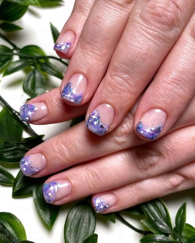 negative space gel nail art
