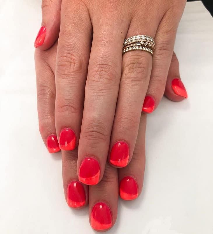 two tone shellac nails