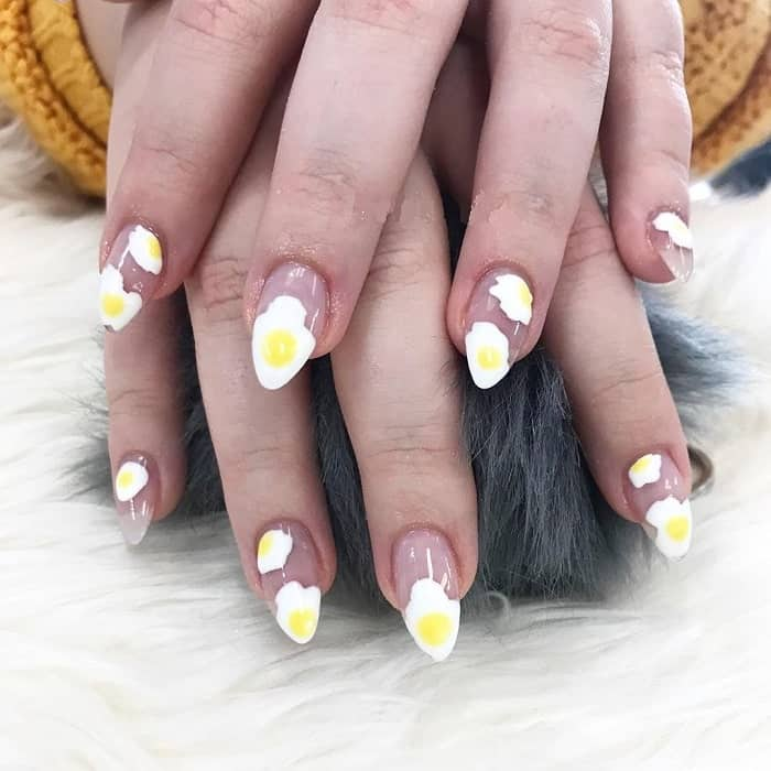 3D easter nail art
