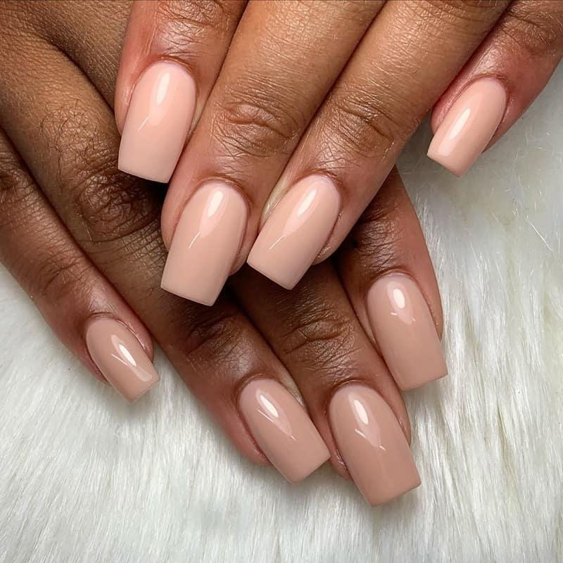 acrylic tan nails