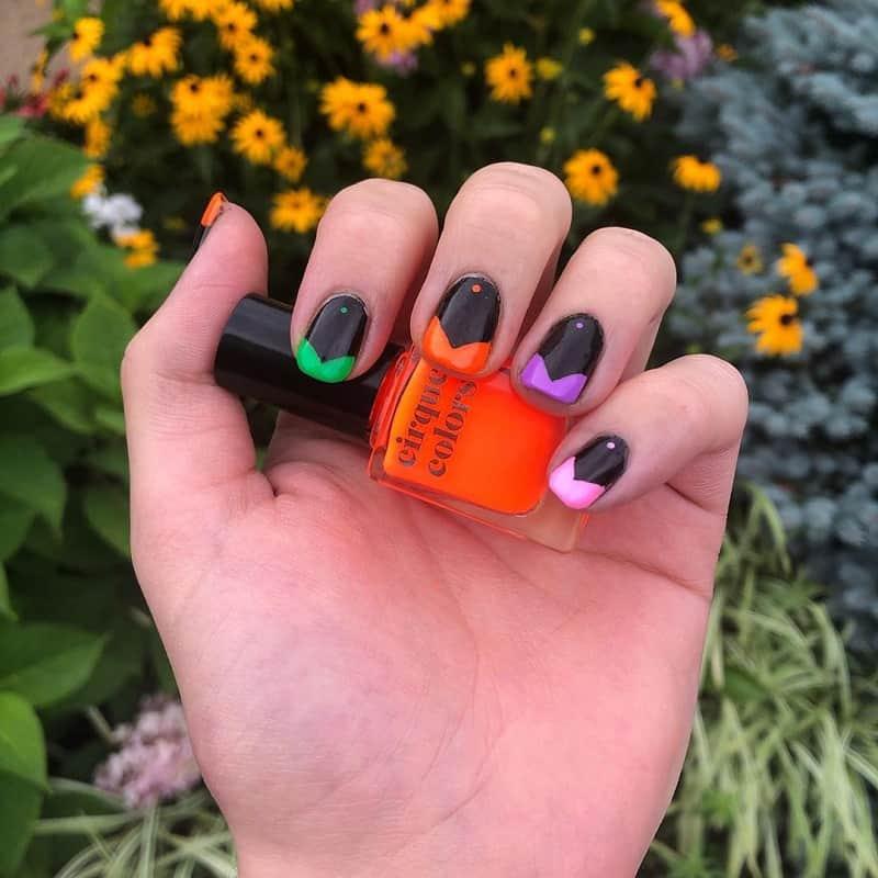 chevron short nail designs