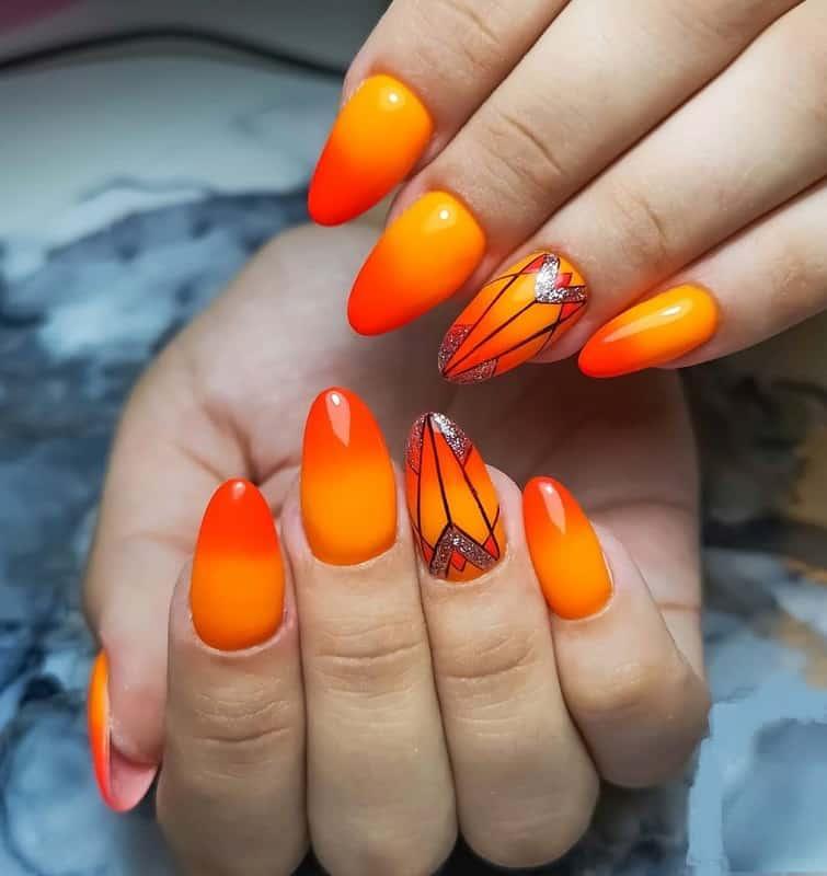 geometric nail art fall