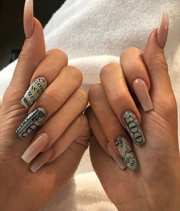 kylie jenner money nails