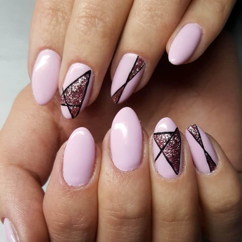 pink new year nails