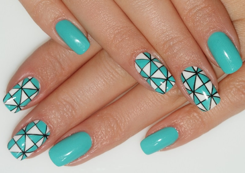 turquoise nail designs for summer