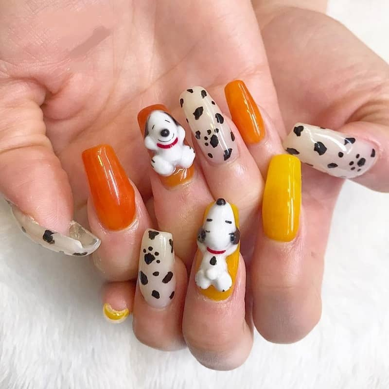 3d dog nail art