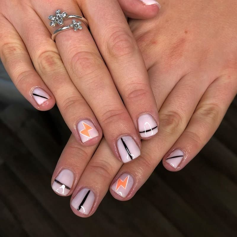 funky short nail designs