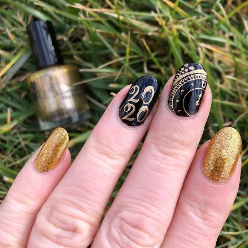new years fake nails