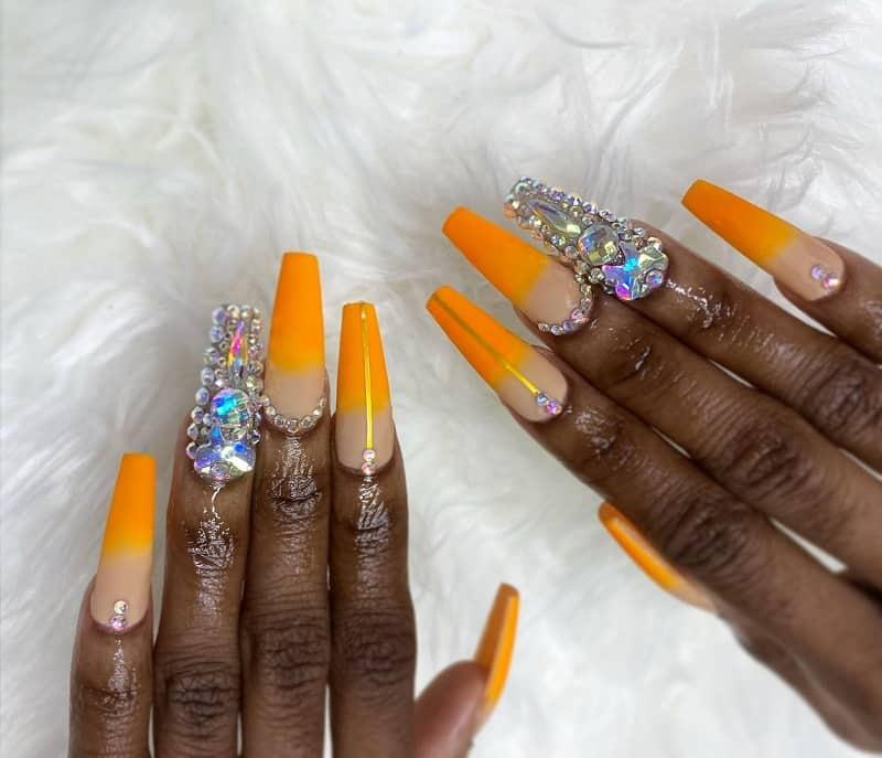 summer bling nails