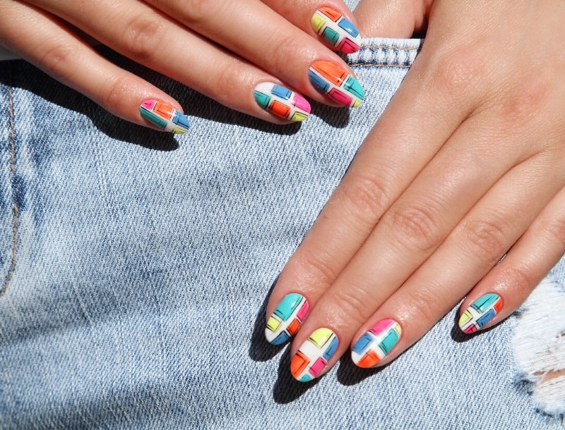 fake nail designs for summer