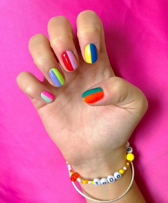 funky new year nail designs