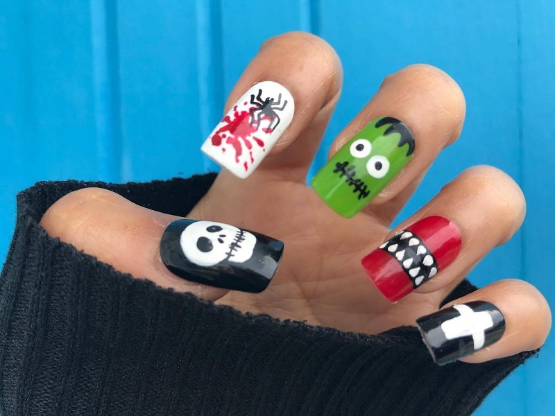 halloween gel nails