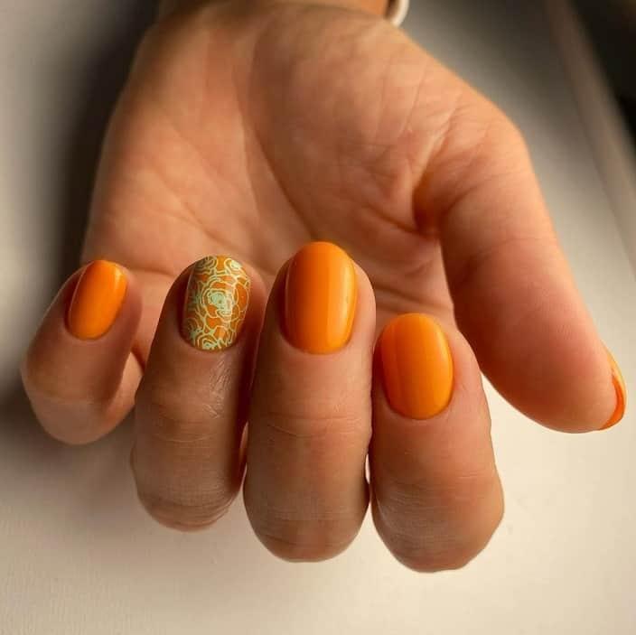 round fall nail designs