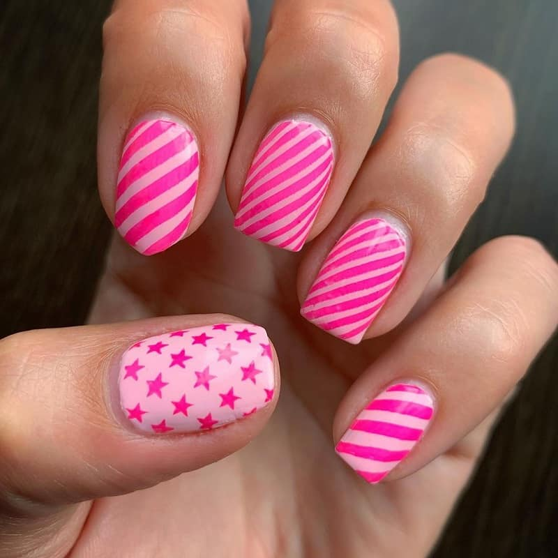 funky stripe nail designs