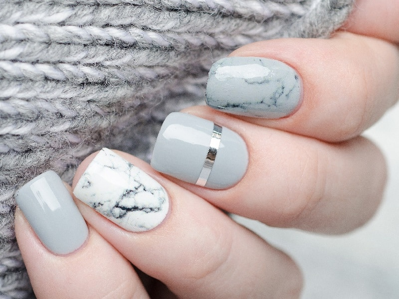 gel nails marble designs