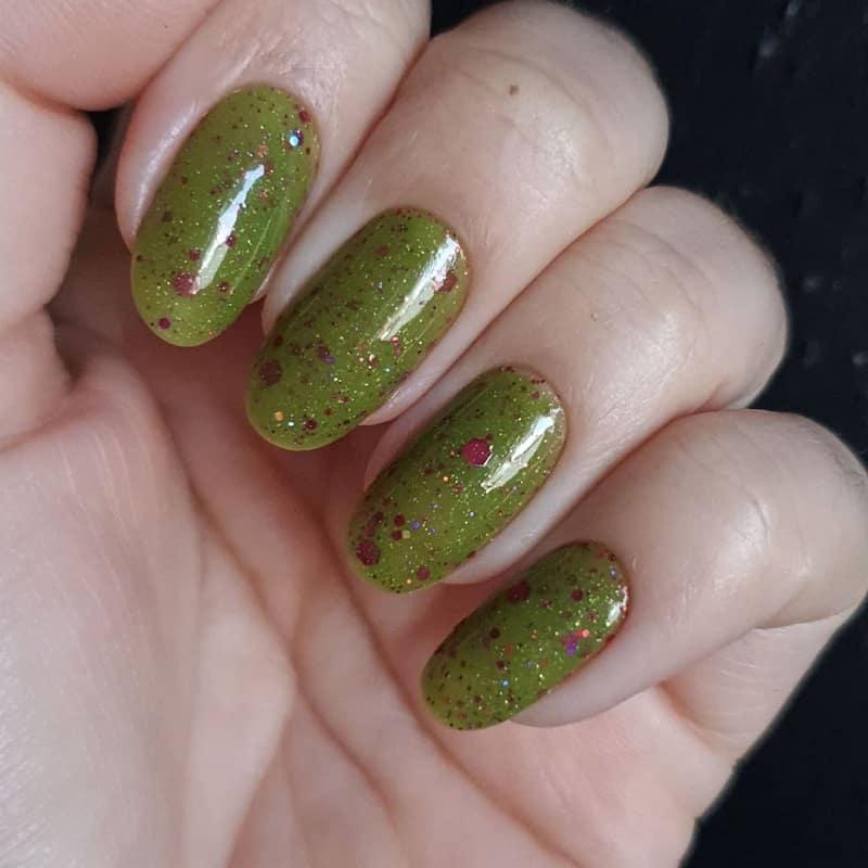 round green nail designs