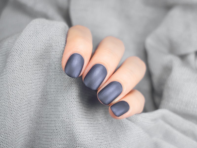 matte gel nails