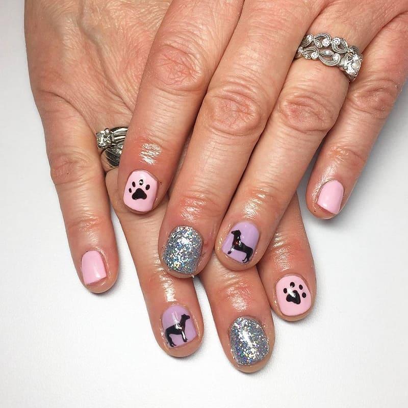greyhound dog nail designs