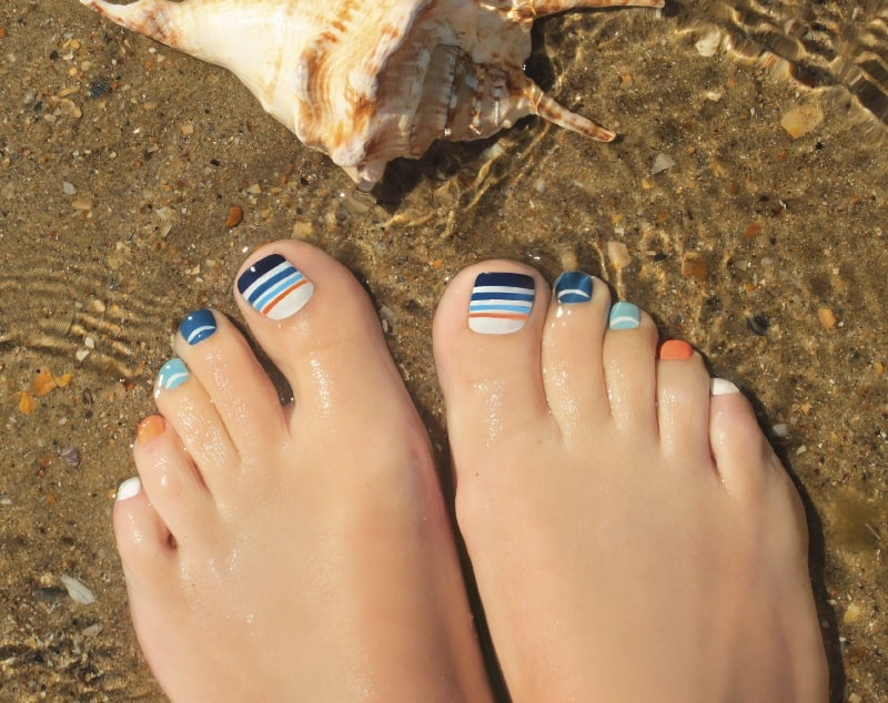 summer toe nails designs