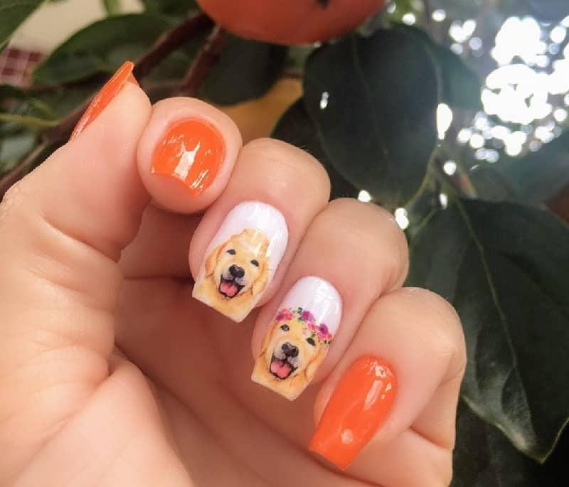 shepherd dog nail art