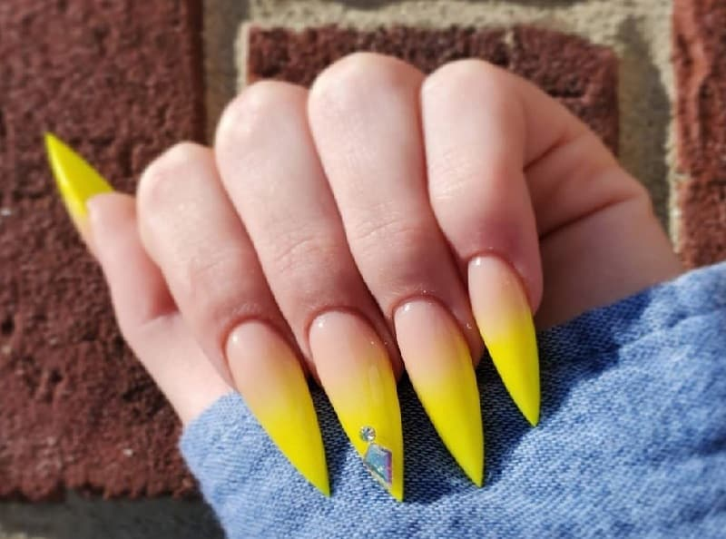 summer pointy nail designs