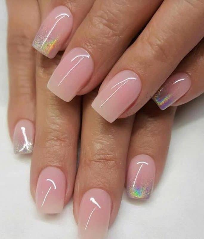 short acrylic nails