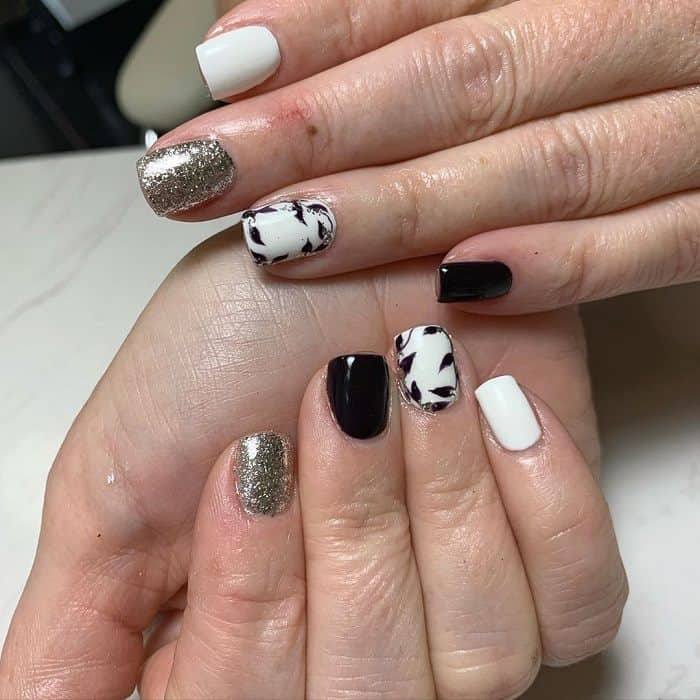 short square nails