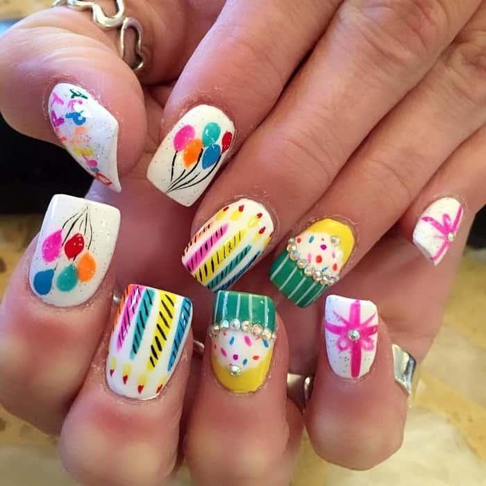 acrylic nails for birthday