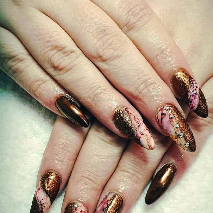 almond acrylic nails